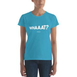 t-shirt femme whaaat franck nicolas glob