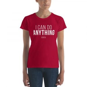 T-Shirt femme i can do anything franck nicolas glob